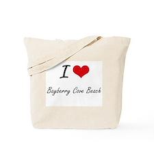 I love Bayberry Cove Beach New York arti Tote Bag