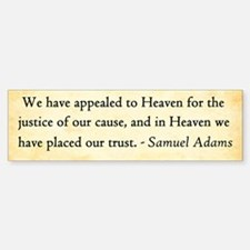 Samuel Adams - Appeal To Heaven Bumper Bumper Bumper Sticker