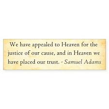 Samuel Adams - Appeal To Heaven Bumper Bumper Sticker