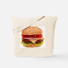 yummy cheeseburger photo Tote Bag