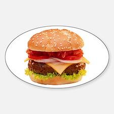 yummy cheeseburger photo Sticker (Oval)