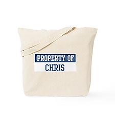 Property of CHRIS Tote Bag