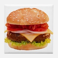 yummy cheeseburger photo Tile Coaster