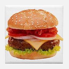 yummy cheeseburger photo Tile Coaster