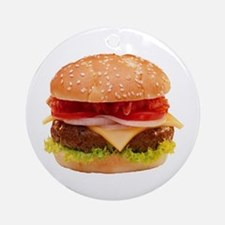 yummy cheeseburger photo Ornament (Round)