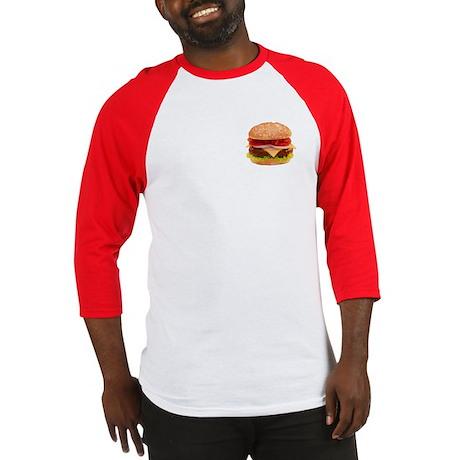 yummy cheeseburger photo Baseball Jersey