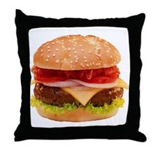 yummy cheeseburger photo Throw Pillow