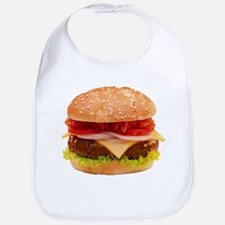 yummy cheeseburger photo Bib