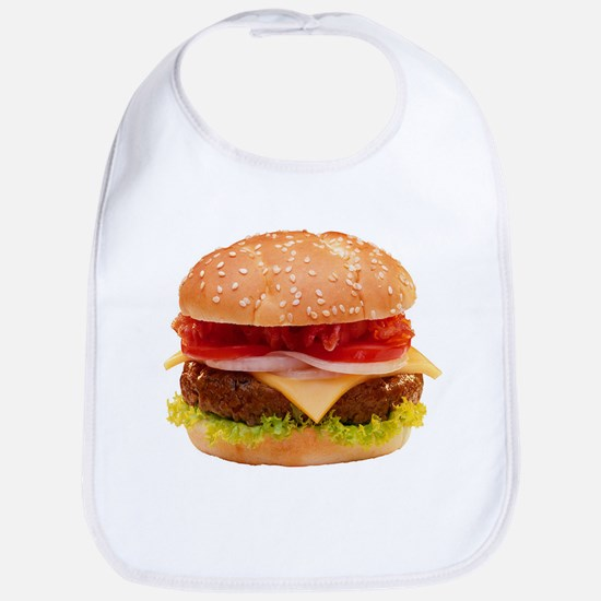 yummy cheeseburger photo Bib