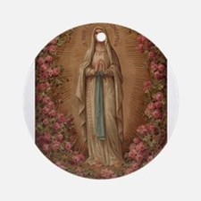 Our Lady Of Lourdes Round Ornament