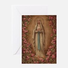 Our Lady Of Lourdes Greeting Cards