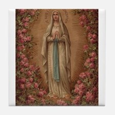 Our Lady Of Lourdes Tile Coaster