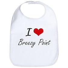 I love Breezy Point Maryland artistic design Bib