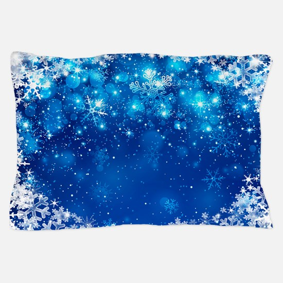 Snowflakes (Blue) Pillow Case