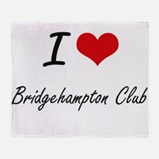I love Bridgehampton Club New York Throw Blanket