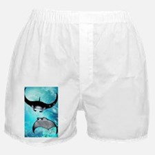 Awesome swimming manta Boxer Shorts