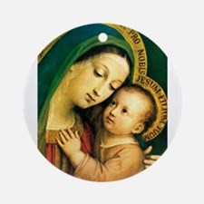 Our Lady Of Good Counsel Round Ornament