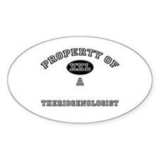 Property of a Theriogenologist Oval Decal
