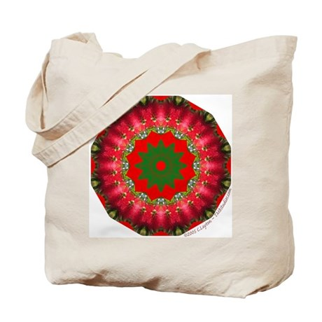 Tropical Flower Kaleidograph Tote Bag