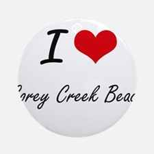 I love Corey Creek Beach New York Round Ornament