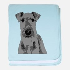 Black and White Airedale Terrier baby blanket