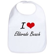 I love Eldorado Beach New York artistic desig Bib