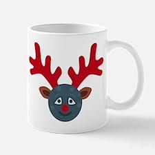christmas antlers moon emoji Mugs