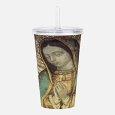 Unique Virgin mary Acrylic Double-wall Tumbler
