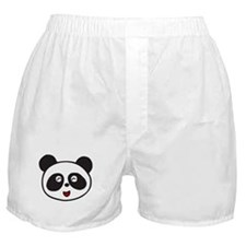 Cute Panda Face Boxer Shorts