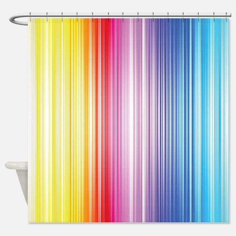 Color Line Shower Curtain