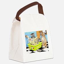 Cat 464 Canvas Lunch Bag