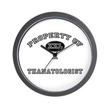 Property of a Thanatologist Wall Clock
