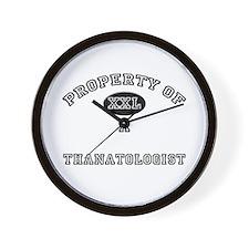 Property of a Thanatologist Wall Clock