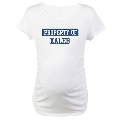 Property of KALEB Maternity T-Shirt