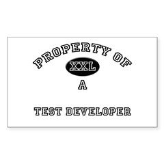 Property of a Test Developer Rectangle Decal