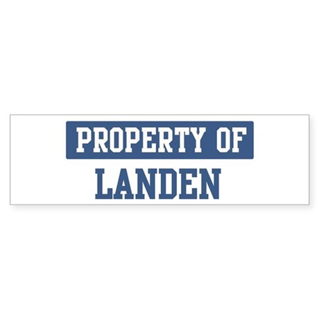 Property of LANDEN Bumper Sticker