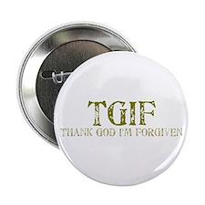 Khaki TGIF Button