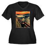 Scream 50th Women's Plus Size V-Neck Dark T-Shirt
