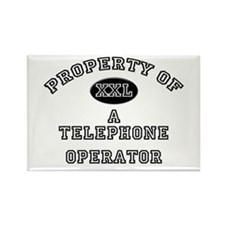Property of a Telephone Operator Rectangle Magnet