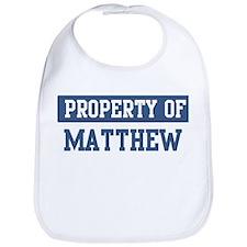 Property of MATTHEW Bib