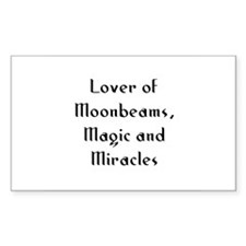 Lover of Moonbeams, Magic and Sticker (Rectangular