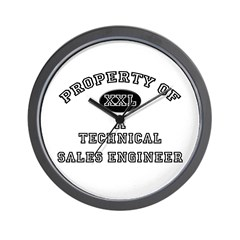Property of a Technical Sales Engineer Wall Clock