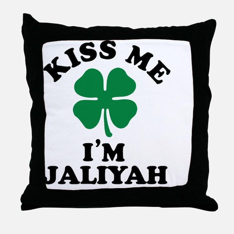 Cute Jaliyah Throw Pillow