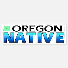 Oregon native (bumper sticker 10x3)