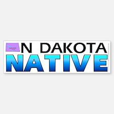 North Dakota native (bumper sticker 10x3)
