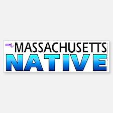 Massachusetts native (bumper sticker 10x3)