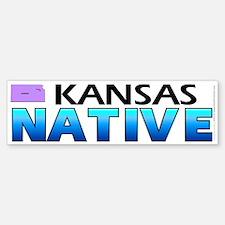 Kansas native (bumper sticker 10x3)
