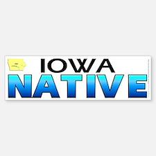 Iowa native (bumper sticker 10x3)