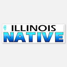 Illinois native (bumper sticker 10x3)