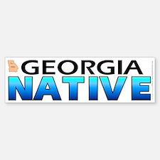 Georgia native (bumper sticker 10x3)